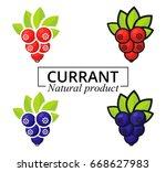 cartoon currant set label | Shutterstock .eps vector #668627983
