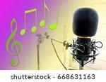 mic music  mic condenser for... | Shutterstock . vector #668631163