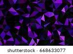 dark purple vector low poly... | Shutterstock .eps vector #668633077