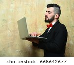 businessman with beard  stylish ... | Shutterstock . vector #668642677