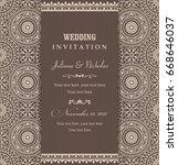 wedding invitation cards...   Shutterstock .eps vector #668646037