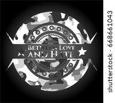 between love and hate grey camo ... | Shutterstock .eps vector #668661043