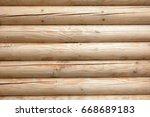 wood texture. the facade of a...   Shutterstock . vector #668689183