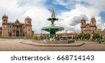 panoramic view of plaza de... | Shutterstock . vector #668714143