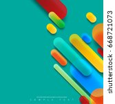abstract template with clean... | Shutterstock .eps vector #668721073
