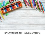 colorful back to school... | Shutterstock . vector #668729893