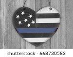 Retro Usa Thin Blue Line Flag...
