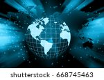 best internet concept of global ... | Shutterstock . vector #668745463