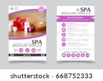 minimalistic spa and healthcare ... | Shutterstock .eps vector #668752333