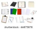 some office supplies. vector.   Shutterstock .eps vector #66875878