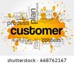 customer word cloud  business... | Shutterstock . vector #668762167