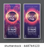 summer night club party flyer... | Shutterstock .eps vector #668764123