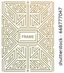 vector monogram design elements ... | Shutterstock .eps vector #668777047