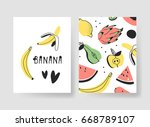 set of templates for summer... | Shutterstock .eps vector #668789107