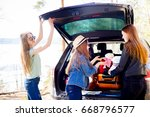 girls going on vacation | Shutterstock . vector #668796577