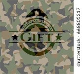 gift written on a camouflage...