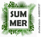 summer card design with  ... | Shutterstock .eps vector #668805937