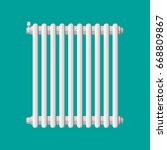 heating radiator. retro heating ... | Shutterstock .eps vector #668809867