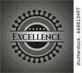 excellence black emblem | Shutterstock .eps vector #668813497