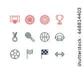 vector illustration of 12... | Shutterstock .eps vector #668814403