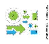 time is money vector... | Shutterstock .eps vector #668819557