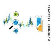 trading via smart phone... | Shutterstock .eps vector #668819563