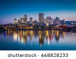 montreal downtown view from... | Shutterstock . vector #668828233