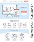 flat line illustration of... | Shutterstock . vector #668833417