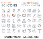 set of line icons  sign and... | Shutterstock . vector #668833483