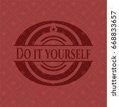do it yourself red emblem | Shutterstock .eps vector #668833657