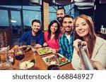 leisure  technology  friendship ... | Shutterstock . vector #668848927