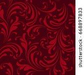 floral seamless pattern.... | Shutterstock .eps vector #668897833