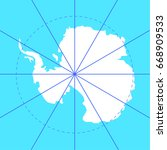 antarctic south pole map... | Shutterstock .eps vector #668909533