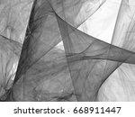 grayscale fractal background... | Shutterstock . vector #668911447