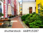 backyard at the historical... | Shutterstock . vector #668915287