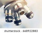 microscope for laboratory...   Shutterstock . vector #668922883