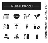 set of 12 editable exercise