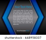 template black  blue and white...   Shutterstock .eps vector #668958337