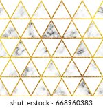 modern marble and gold... | Shutterstock .eps vector #668960383