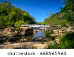 the western point of eno river... | Shutterstock . vector #668965963