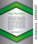 template silver  green and...   Shutterstock .eps vector #668966107