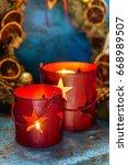 christmas candles | Shutterstock . vector #668989507