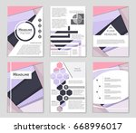 abstract vector layout... | Shutterstock .eps vector #668996017