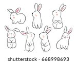 draw vector illustration set... | Shutterstock .eps vector #668998693
