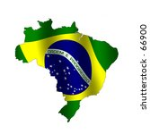 map of brazil filled with its... | Shutterstock . vector #66900