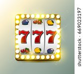 jackpot with gold elements | Shutterstock . vector #669023197