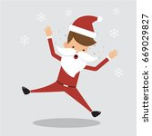 happy christmas santa claus.... | Shutterstock .eps vector #669029827