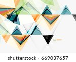 triangular low poly a4 size... | Shutterstock . vector #669037657