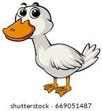 cute duck on white background | Shutterstock .eps vector #669051487