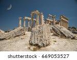 Small photo of Aphaia on Aegina. The Sanctuary of Aphaia on Aegina.